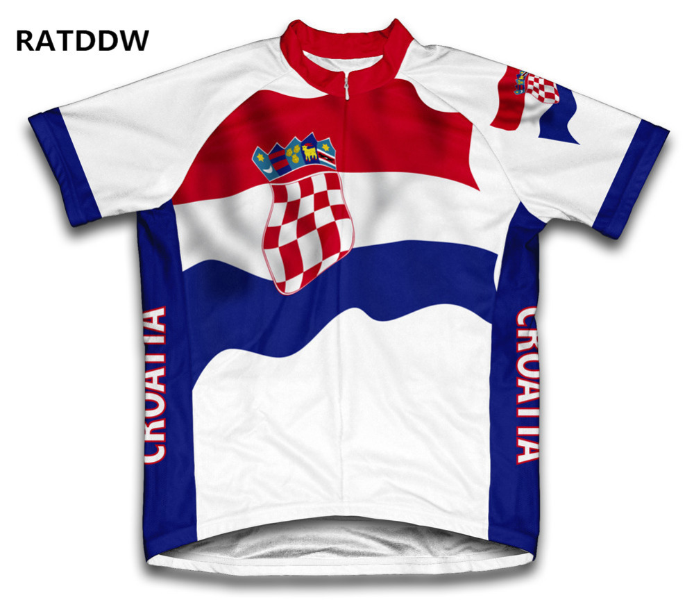 New Croatia Flag Cycling Jersey Bike Bicycle Cycling Clothing Bike Clothing Men Cycling Wear Ropa Ciclismo Tops