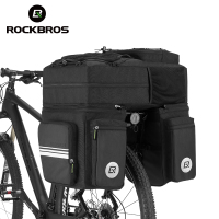 ROCKBROS Bike Bag Black 48L Mountain Bike Rack Rear Seat Trunk Bag 3 In 1 Multifunction