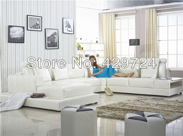 Luxury Sofa, Italy Design Large Size Couches Genuine Leather Sofa Corner Sofa Set with Chaise Longue Home Furniture Sofas