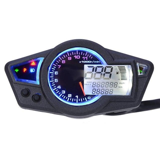 CS-295 Мотоцикл Одометр Тахометр Датчик Подсветки Поворотов/Головная Лампа Рабочая Индикатор с 12 В ЖК-Экран
