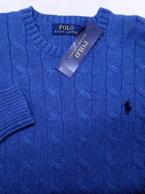 Polo Ralph Lauren Mens Cable Knit Sweater Blue Cotton Sz S Nwt 99