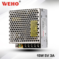 (S-15-5) Cooling Aluminum shell 15W Industrial power supply 5v 3a switch mode power supply
