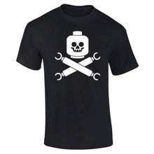 Mens Building Blocks Skull And Crossbones T-shirt NEW S-XXL New T Shirts Funny Tops Tee Unisex free shipping