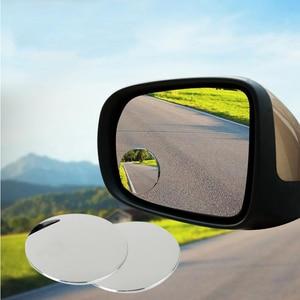 Image 2 - 1 זוג 360 תואר ללא מסגרת ultrathin רחב זווית עגולה קמור כתם עיוור מראה עבור חניה מראה אחורית באיכות גבוהה