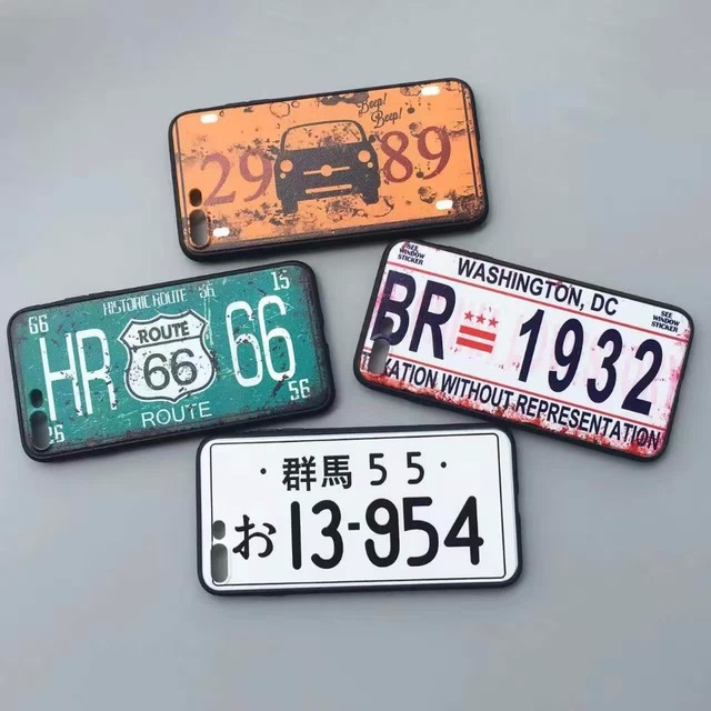 License Plate  Phone Cases for iPhone 7 7 Plus 6 6s 6Plus 6sPlus 5 5s SE