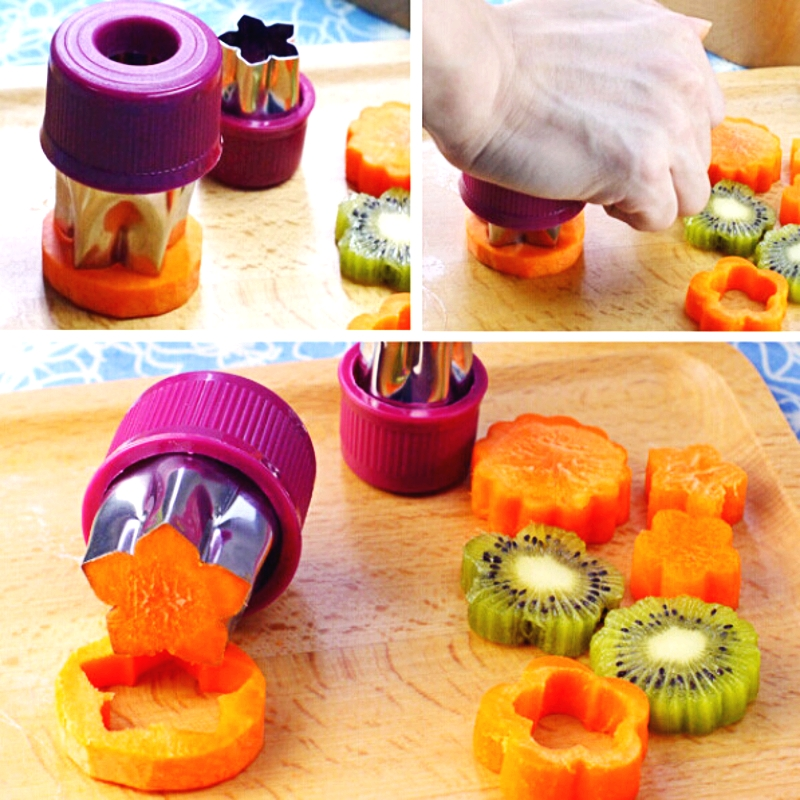 Creativa flower shape cortador 1 Unidades 8 tipo de patrón de corte diy fruit ve