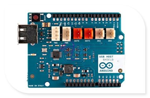 new Italian original USB Host Shield for Arduino, based on MAX3421E Controller 5V 500mA/400mA compatible with TinkerKit-Modules, цена и фото