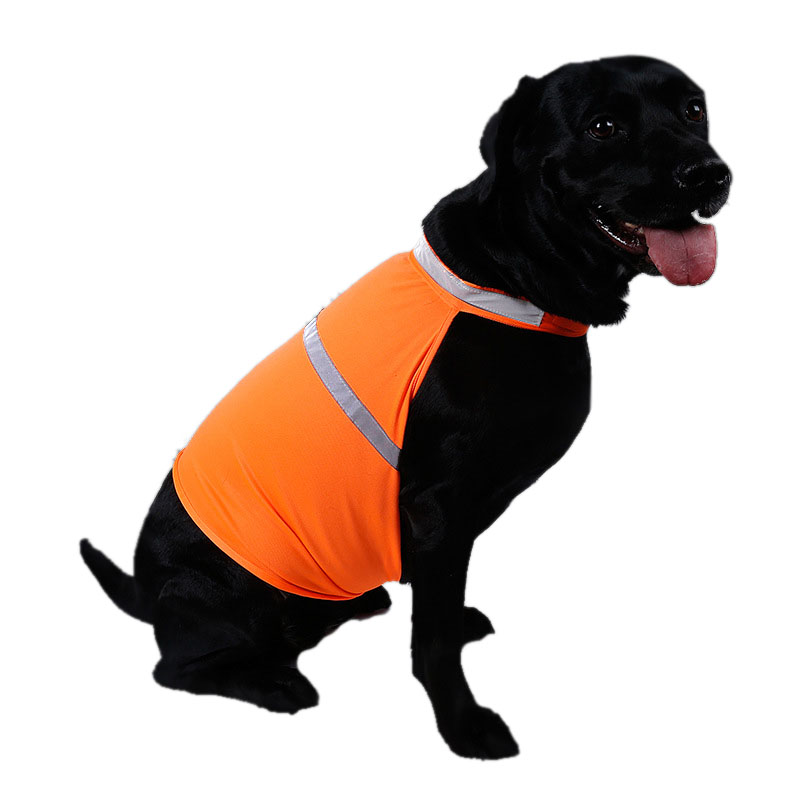 b8bf3b50261bd Hunting Dog Vest Pet Safety Reflective Vest Luminous Waterproof Dog  Clothing for Dachshund Summer Dog Clothes