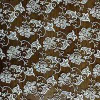 130cm Morning Glory Embroidered Organza Lace Fabric Milk Silk Fabric Luxury Dress Fabric Textured Fabric Table