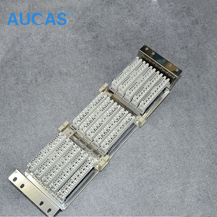 AUCAS Stainless Steel 150 pairs voice distribution frame Blank Patch Panel for Krone 10 pairs voice module 10 pairs 100