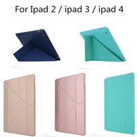 TLP BX High Quality Tablet Utrathin 4 Shapes Stand Design PU Leather Case For Ipad 4