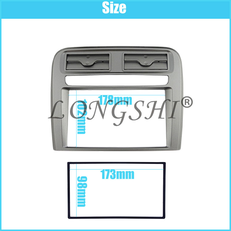 2DIN autoradio fascia Bezel Trim Kit Cover For 2005-2009 FIAT GRAND PUNTO (LHD) OEM Stereo Dash Installeren Panel Auto Plaat factory direct deal rechargeable 10w super bright emergency led lamp white color