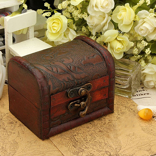 Large New Wooden Storage Box Diy Crates Toy Boxes Set: New Vintage Jewelry Pearl Necklace Bracelet Storage