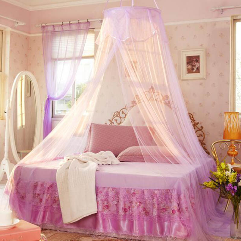 Summer princess mosquito nets bed curtain canopy net - Canopy bed ideas for adults ...