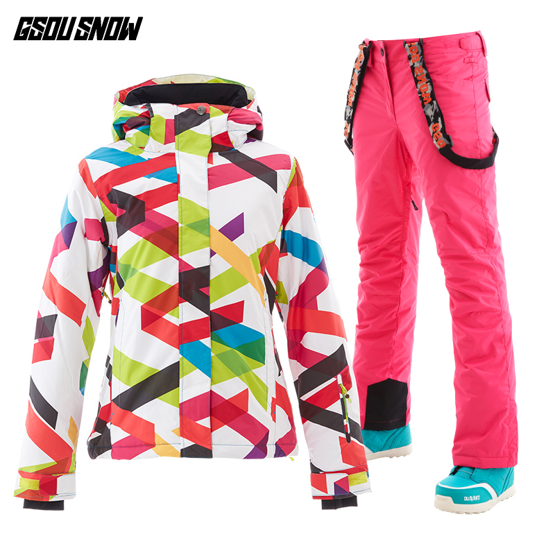 2e8108c8fb Gsou Snow cool wintersport ski suit warm ski jackets womens ski suits female  snowboard jacket and pants manteau femme hiver -in Skiing Jackets from  Sports ...