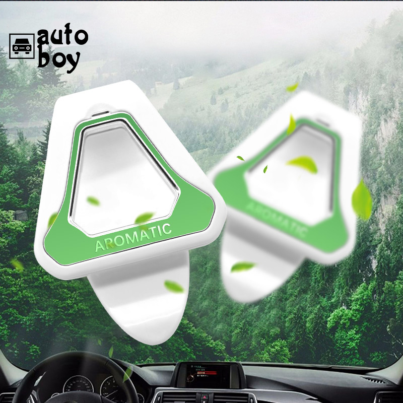 Image 2 - Car Air Freshener Gift Decoration Nature Perfume Smell Flavoring For Sun Visor Backseat Aromatherapy Auto Interior Accessories-in Air Freshener from Automobiles & Motorcycles