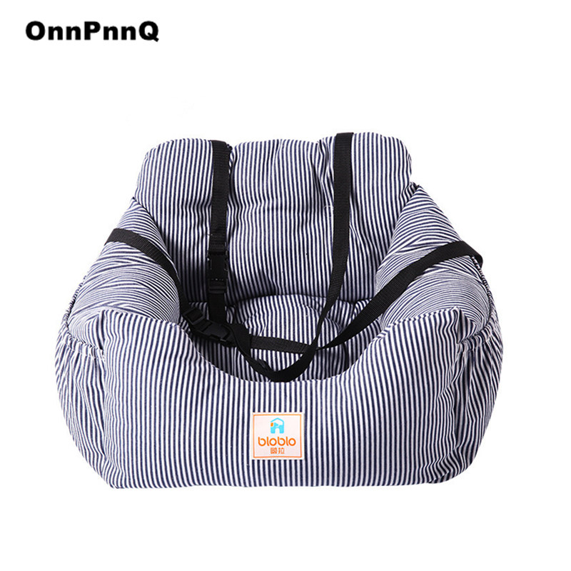 Luxury Striped Dog Pet Bed Car Pet Seat Washable Outdoor Dog Beds Mats Cat Bed Dog