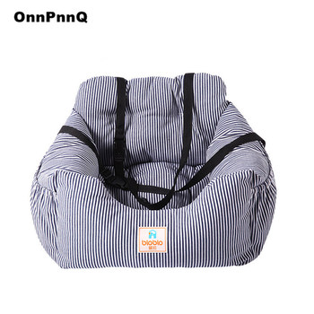 Luxury Striped Dog Pet Bed Car Pet Seat Washable Outdoor Dog Beds Mats Cat Bed Dog Bedding Bed For Dog