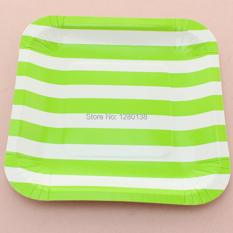 Party Supplies Blue Striped Paper Plates 7\  Square Paper Plates for Wedding Baby shower-in Disposable Party Tableware from Home \u0026 Garden on Aliexpress.com ...  sc 1 st  AliExpress.com & Promotion!!! Party Supplies Blue Striped Paper Plates 7\