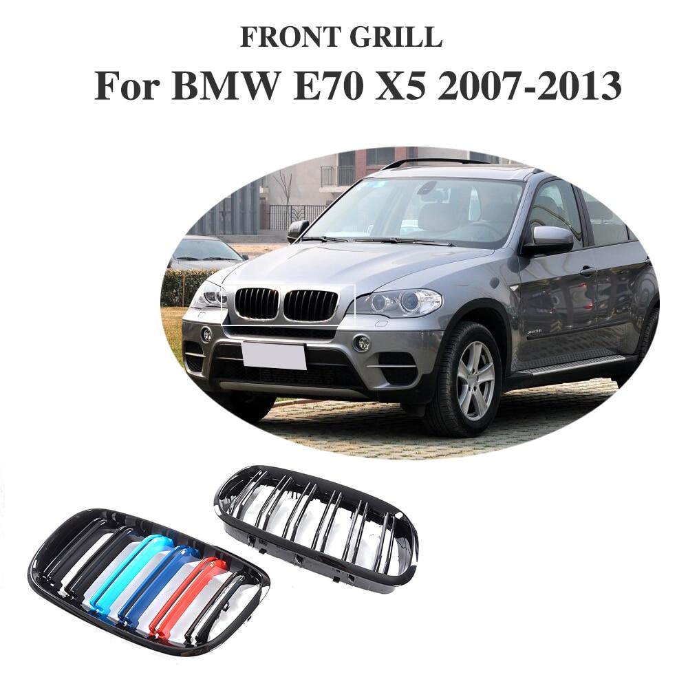 ABS Voiture Couverture Décoration Garniture de Calandre avant Pour BMW E70 X5 SUV 4 Porte 2007-2013