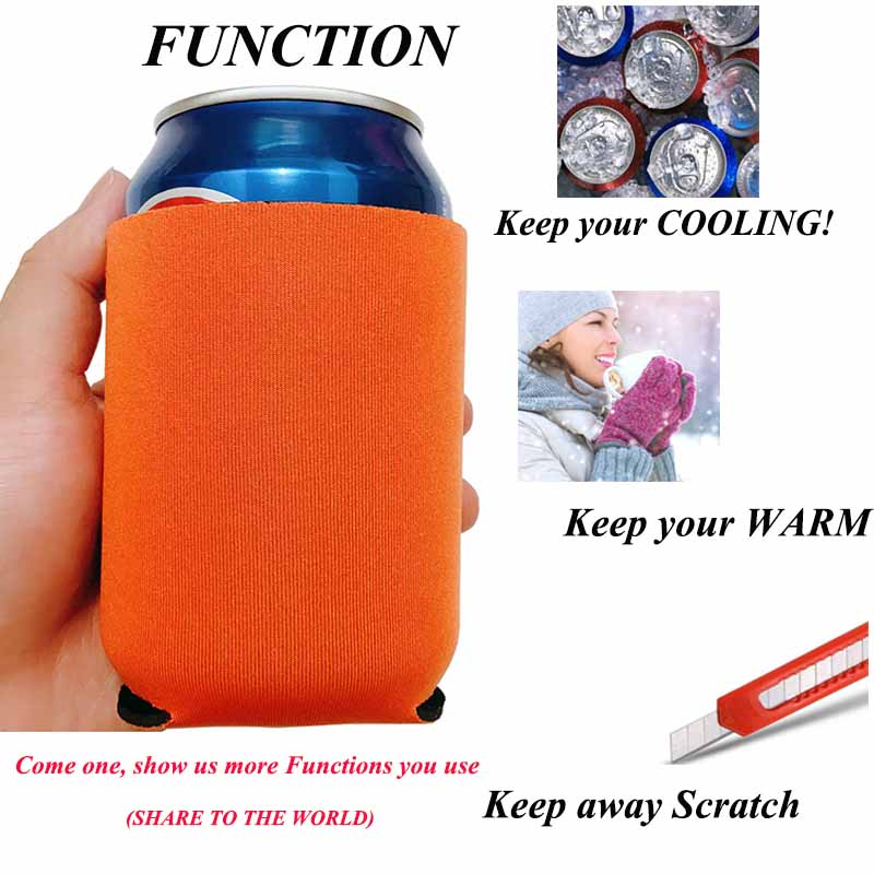 FEESTIGO 1pcs Beer Tin Can Cooler Sleeve Cozy Holder Wedding and Party Decoration Customized Koozies Hen Party Supplies in Party DIY Decorations from Home Garden