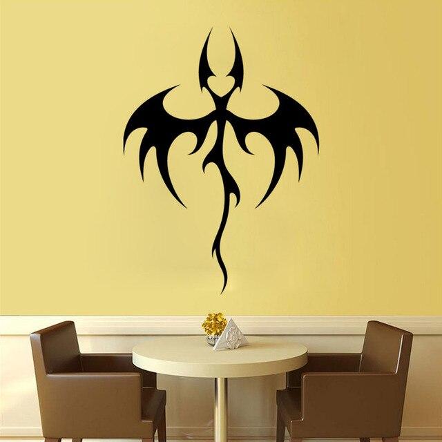 Cool Design Tribal Bat Dragon Wall Decal Vinyl Wall Decal For Home - Removable vinyl wall decals for home decor