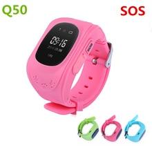 Hots Q50 GPS Monitor Do Bebê Anti Perdido Relógio Passometer Inteligente para Crianças SOS Call Localização Localizador Localizador Rastreador Crianças Smartwatch
