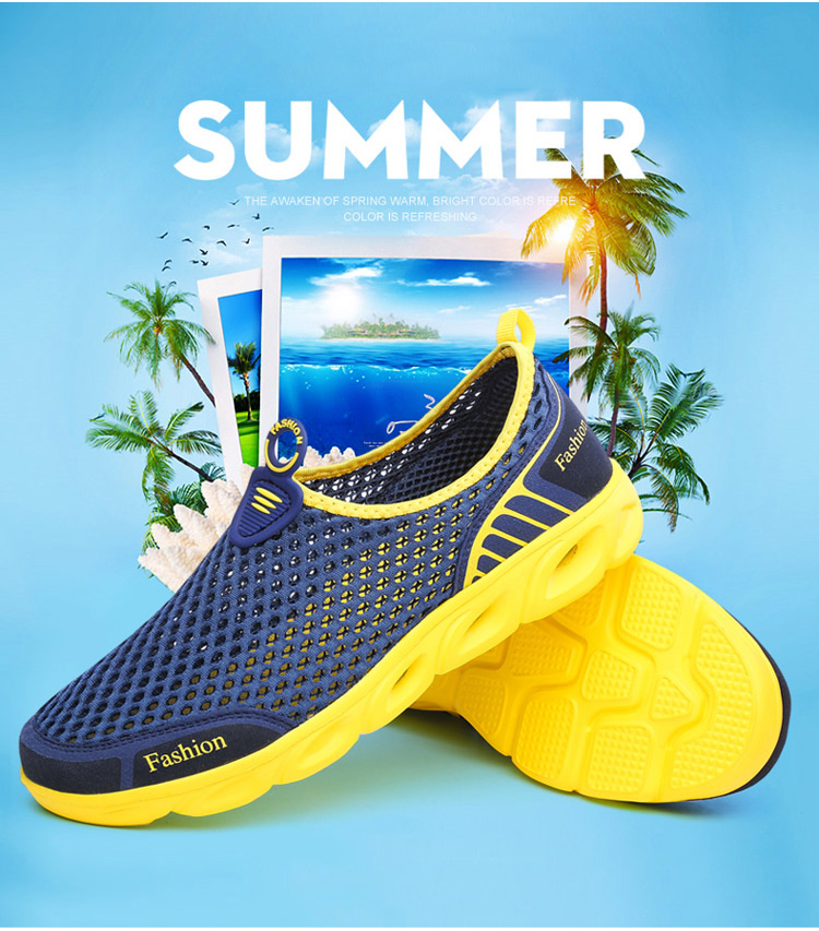 HTB1U9UBNY2pK1RjSZFsq6yNlXXaG Men Casual Shoes Sneakers Fashion Light Breathable Summer Sandals Outdoor Beach Vacation Mesh Shoes Zapatos De Hombre Men Shoes