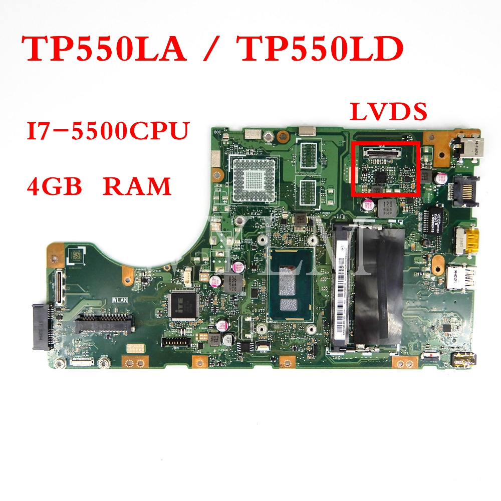 TP550LA motherboard REV2.0 I7-5500CPU / GM / 4GB RAM mainboard For ASUS TP550 TP550L TP550LD LJ LN laptop motherboard Test OKTP550LA motherboard REV2.0 I7-5500CPU / GM / 4GB RAM mainboard For ASUS TP550 TP550L TP550LD LJ LN laptop motherboard Test OK