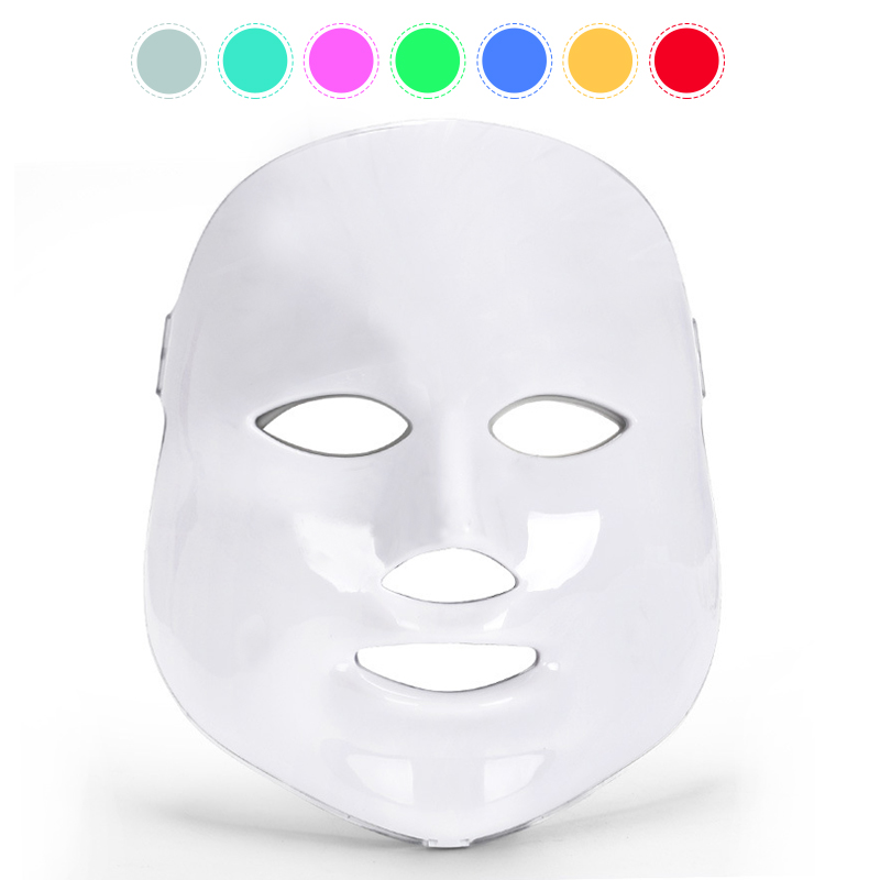 Electric LED Facial Mask 7 Colors Light Photon Therapy Skin Rejuvenation Wrinkle Removal Anti-Aging LED Mask Beauty Spa Device цена