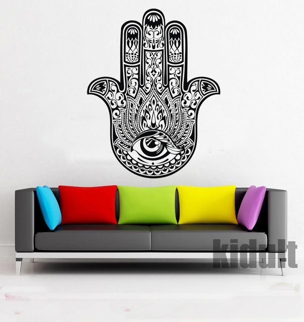 Yoga Creative Design Wall Stickers Living Wall Stickers Home Decoration Wall Wallpaper Indian Yoga Multicolor Vinyl
