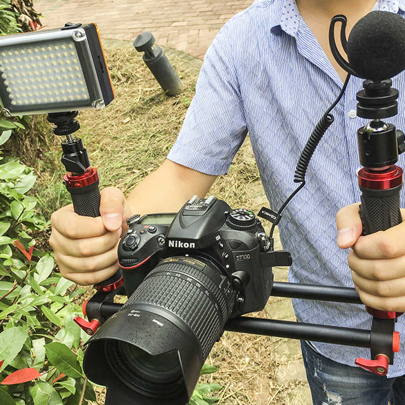 DIGITALFOTO 2 مقبض حامل مثبت كاميرا DSLR تزوير للهواتف الذكية 3 محور gimbal Zhiyun السلس 4 س رافعة M الناظر DS1 EC1