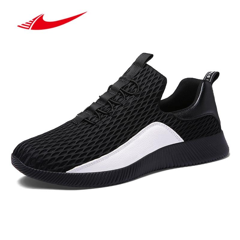 Beita Summer Mesh Men Running Shoes Walking Men Sneakers Comfort Run Athletic Shoes Slip-on Breathable Outdoor Sport shoes