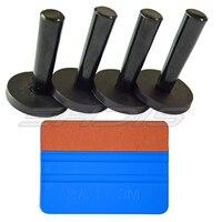 Car Tint Wrap Tools Suit Kit Suede Hand Scraper 4pcs Magnetic Holders Vinyl Film Wrap Application