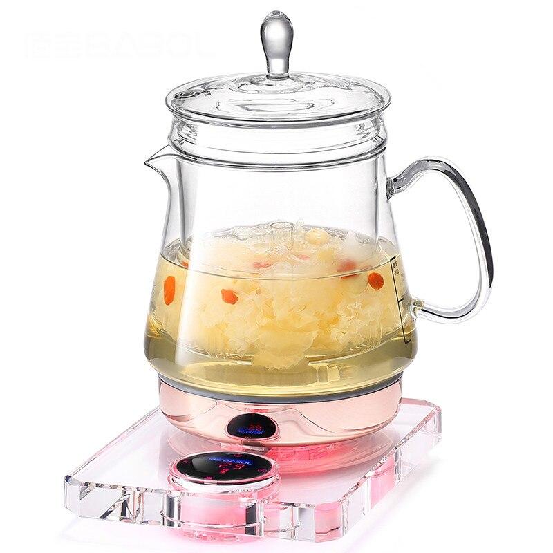 Nid d'oiseau pot ragoûts entièrement automatique verre santé bouilloire utilisation multi-fonction bouillie thé POTS d'eau théière Surchauffe protection