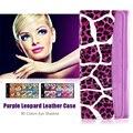 1PCS 80 Color Professional Nude Eyeshadow Palette Makeup Matte Glitter Palette with Purple Leopard Leather Case #92131