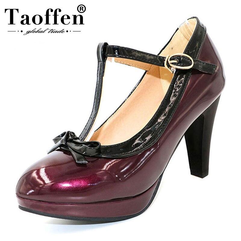 Tamaño T purple 32 Taoffen Tacón Madura Calzado Correa Mujeres Alto Mujer 3 Fiesta Verano 4 Sexy Señora purple De Boda Bombas Purple purple 2 48 Zapatos 1 dwp1wAP