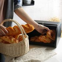New Retro Lid Bread Loaf Cake Storage Bin Food Baking Container Box Kitchen Utensil Food Packaging Box