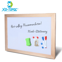 Free Shipping Dry Erase Magnetic Board Wood Frame Whiteboard Can Be Erased Easily And Write Repeatly