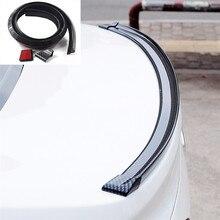 1,5 м Универсальный Автомобильный спойлер из углеродного волокна задний спойлер крыша крылья багажника Губы 3D набор наклеек хвост резиновая отделка кузова авто аксессуары