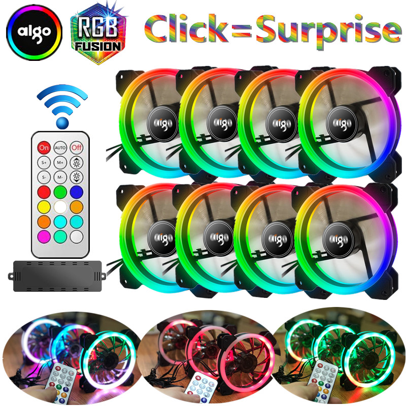 aigo dr12 8pcs computer case pc fan rgb dual led ring 120mm silent IR remote controller computer cooler cooling rgb case fan cpu aigo jesm j3 3pcs computer case pc cooling fan rgb adjust led 120mm quiet ir remote new computer cooler cooling rgb case fans