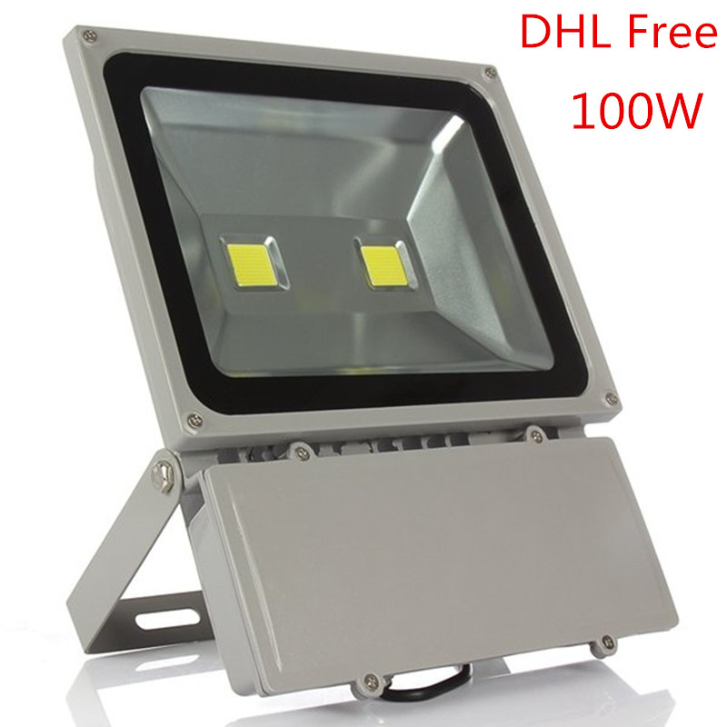 100W Led Floodlight Waterproof Outdoor Led flood light AC85-265V Outdoor Led Spotlight Outside Led Reflector DHL Free 1pcs 100w led floodlight 2pcs 50w chip waterproof outdoor led flood light ac85 265v outdoor led spotlight outside led reflector