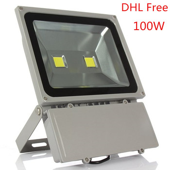 100W Led Floodlight  Waterproof Outdoor Led flood light AC85-265V Outdoor Led Spotlight Outside Led Reflector DHL Free