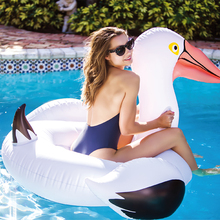 купить 152cm Giant Pelican Inflatable Pool Float 2018 Newest White Swan Ride-On Swimming Ring Air Mattress Summer Water Party Toy boia по цене 1773.37 рублей