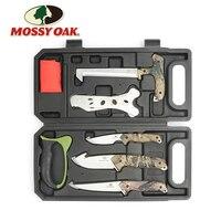 이끼 오크 8 개 도구 세트 사냥 칼 톱 깎이 라텍스 장갑 해골 필드-냉동고 사냥 처리 세트