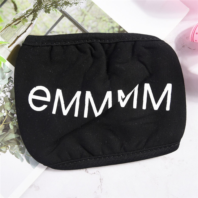 1PC Cotton Dustproof Mouth Face Mask Unisex Korean Style Kpop Black Bear Cycling Anti-Dust Cotton Facial Protective Cover Masks 4