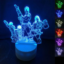 NEW HOT Game Figure 3D Table Lamp LED Night Light 7 Colors Changing Bedroom Sleep Lighting Home Decor Gifts hot cartoon figure frozen table lamp 7 colors changing desk lamp 3d lamp novelty led night lights led light girl baby gifts