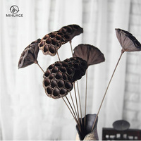 MiHuaGe Dried Flowers Iron Wire Wedding Holiday Decoration Lotus Dried Flowers Home Bedroom Living Room Decor Dried Flowers