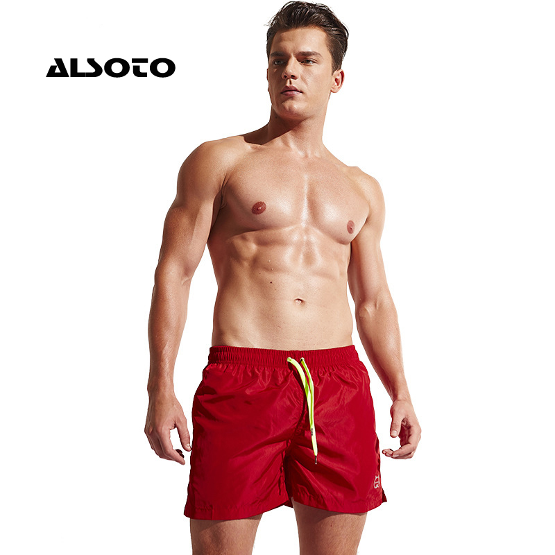 ALSOTO Board Shorts Men Swimming Suit Summer Basketball Sport Running Loose GYM Short Trouser Men's Beach Pant Swim Shorts
