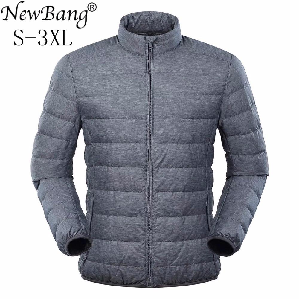 NewBang Matt Down Coat Male Ultra Light Down Jacket Men Winter Jacket  Windbreaker Feather Parkas For Men Thin Warm Jackets